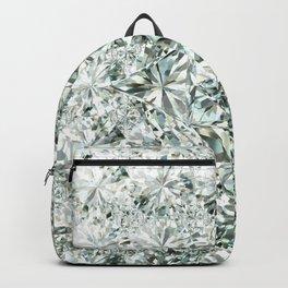 White Diamond Abstract Art Pattern 07 Backpack