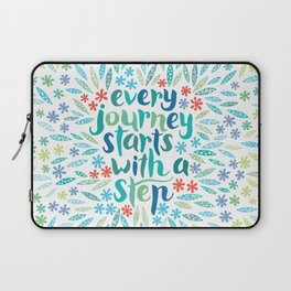 Every journey starts with a step BLUE Laptop Sleeve