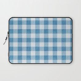 Blue Gingham Denim Country Pattern Laptop Sleeve
