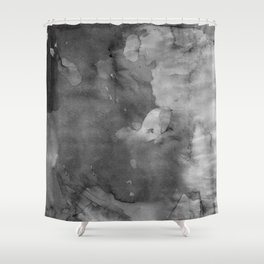 Black watercolor Shower Curtain