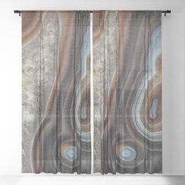 Mocha swirl Agate Sheer Curtain