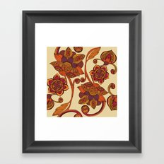 Boho Flowers Framed Art Print