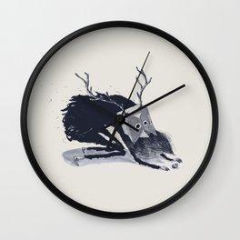 Le Shaman Vetu De Noir Wall Clock