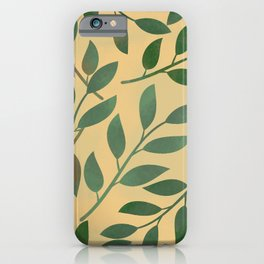 Colored leaves pattern iPhone Case