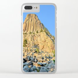 Devils Tower 2 Clear iPhone Case
