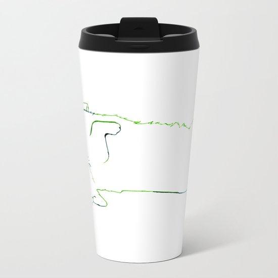 Simplistic Corgi Metal Travel Mug