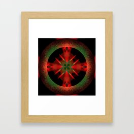 Spinning Wheel Hubcap in Scarlet Framed Art Print