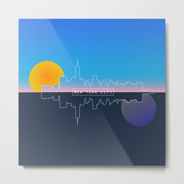 The City That Will Never Flatline Metal Print
