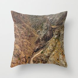 Royal Gorge Landscape with Arkansas River Throw Pillow