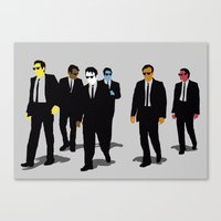 reservoir dogs Canvas Prints featuring Reservoir Dogs by WhiteeChess