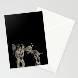 King Kong loves T-Rex Stationery Cards
