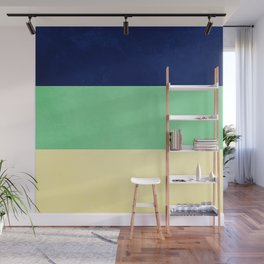 South Pacific Colorblock Stripes Wall Mural