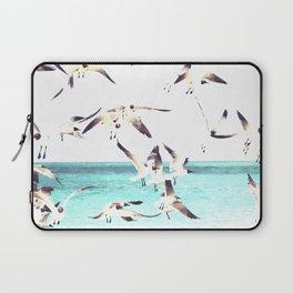 Seagulls Illustration Laptop Sleeve