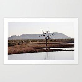 The lonely Tree & Elephant Art Print