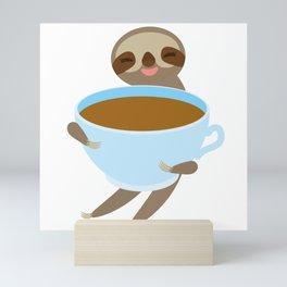 sloth & coffee 3 Mini Art Print
