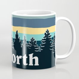 up north, teal & yellow Coffee Mug