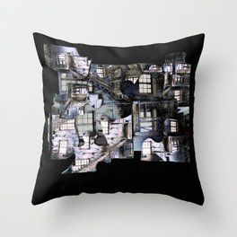 Oliver Twist House Throw Pillow