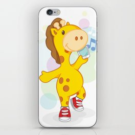 Party like Giraffe wearing converse iPhone Skin