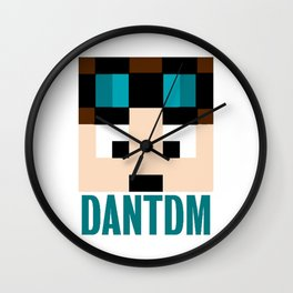 DANTDM Graphic Crystal Wall Clock