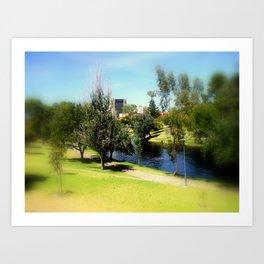 Adelaide Torrens River and CBD Art Print