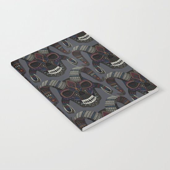 demon skull charcoal Notebook