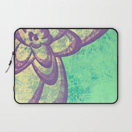 Purple & Green Flower Laptop Sleeve