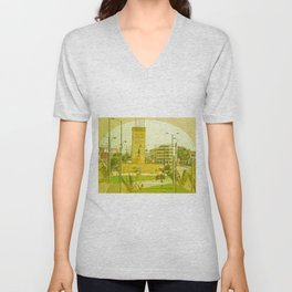"COLOMBIA BOGOTA CITY ""THE HEROES"". Unisex V-Neck"