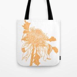 Australian native flower sketch - Waratah Tote Bag
