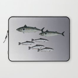 Tuna an Salmon Fish grey Laptop Sleeve