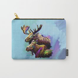 Colorful Moose Carry-All Pouch