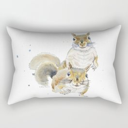 Two Squirrels Rectangular Pillow