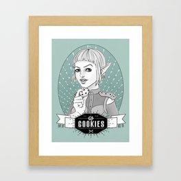 Sera´s Us Cookies Framed Art Print