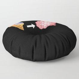Ice Cream Freeze Brain Funny Floor Pillow
