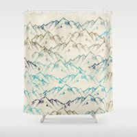 mountains Shower Curtains featuring Mountains  by rskinner1122