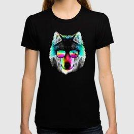 Wolf Rainbow Sunglasses T-shirt