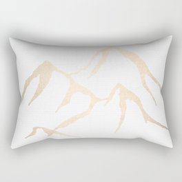 Adventure White Gold Mountains Rectangular Pillow