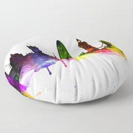 Colorful London Floor Pillow