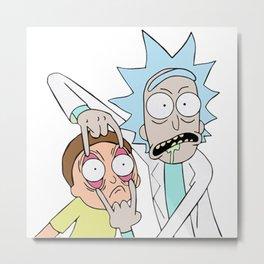 Rick Morty 2 Metal Print