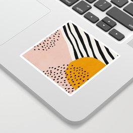 Abstract, Mid century modern art Sticker