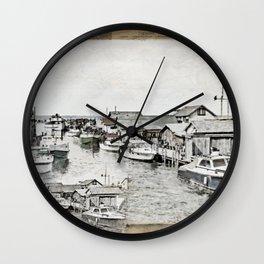 Fish Town Wall Clock