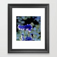 CornFlower Blue Bokeh Framed Art Print