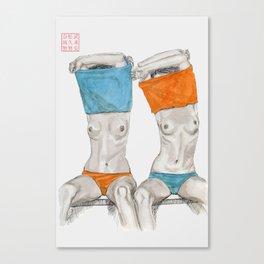 Peek-a-boo Canvas Print