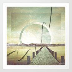 Southern Lights Art Print