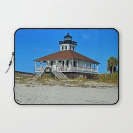 Boca Grande Lighthouse at Christmas Laptop Sleeve