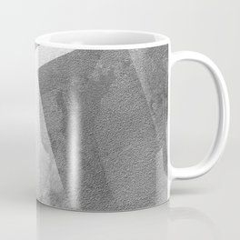 Black and Metallic Silver - Digital Geometric Texture Coffee Mug