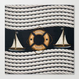 Nautical Ropes Canvas Print