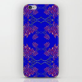 Orchids on Blue iPhone Skin