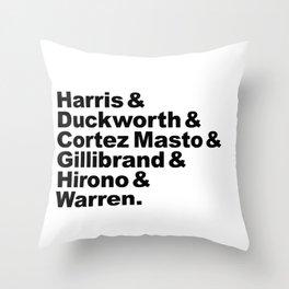 nasty women: senators Throw Pillow