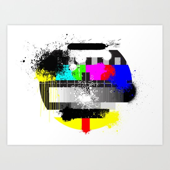 TV Trash Art Print