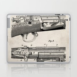 Bolt Action Rifle Patent - Repeating Receiver Art - Antique Laptop & iPad Skin